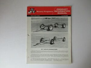 Massey Ferguson MF7 MF8 running gears product information brochure