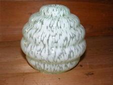 Bel abat jour en verre berlingot vert pâle, applique lampe de bureau N°2