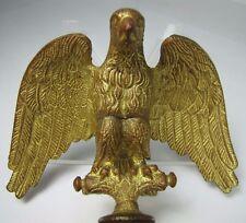 Antique Bronze EAGLE Finial Gold Gilt Ornate Old Architectural Hardware Element