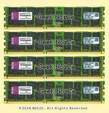 Kingston Server RAM 16GB 4x 4GB PC3-10600R ECC REG DDR3 1333 2Rx4 RDIMM Memory