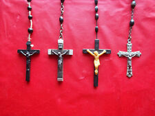 New listing 4 Vintage Rosaries, Crucifix, 1 Coffin to put them in. Necklace, Goth, Halloween