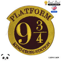 Harry Potter Plateforme 9 3/4 Film Bd Brodé à Repasser Patch à Coudre Badge