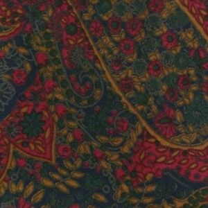 Red Green Gold Paisley CARDIN Silk Tie