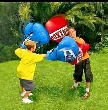 BANZAI KIDS INFLATABLE MEGA GIANT BOXING GLOVES FIGHT WRESTLING POOL TRAMPOLINE