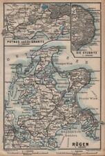 RÜGEN. Stralsund Bergen. Rugen Putbus Granitz Stubnitz. Germany 1904 old map