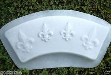 Gostatue mold heavy duty tree ring concrete mould fleur de lis
