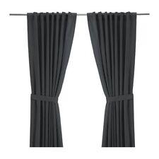 "Ikea Ritva Curtains, standard 57 x 98"" 1 Pair of Window Drapes Only, Gray Cotton"