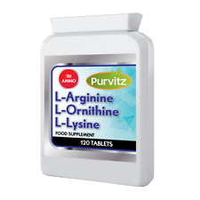 L-Arginine L-Lysine L-Ornithine Promotes ANABOLIC Muscle Growth 120 Tablets UK