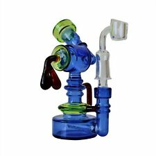 Mini 6 Inch Heady Recycler Style Glass Concentrate Rig Bong w/ Inline Perc