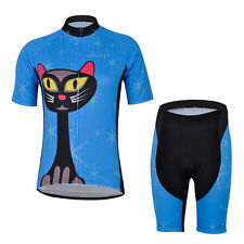 Blue Cycling Jersey and Pant/Short Set