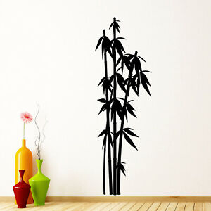 Bamboo v1 Wall Sticker Decal Transfer Nature Tree Plant Chinese Japanese Vinyl