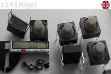 8x8x5mm 4 Pins Conductive Silicone Soundless Tactile Tact Button Micro Switch