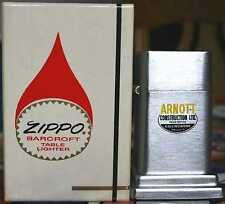 Très Rare ZIPPO BARCROFT No. 4 Arnott construction Ltd. Canada 1960´s En parfait état, dans sa boîte RAR!