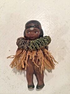 Vintage Hawaiian Hula Girl Doll Figurine