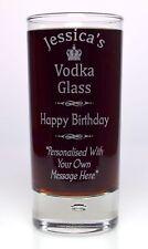Engraved BIRTHDAY VODKA Highball Glass Gift For 50th/60th/65th/70th/Nanny/Nan