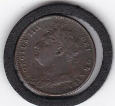 1822    King    George    IV   Farthing   Copper  Coin