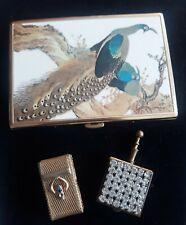 Vintage Smoking Accessories - Cigarette Case,  Portable Ashtray, & Match Box