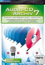 Audio CD Archiv 7 für PC | NEUWARE | Archivierung | Musik Verwaltung | dt.