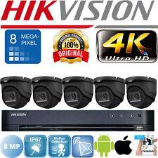 Hikvision 8MP paquete de seguridad CCTV Sistema 4K Ultra HD DVR 8CH Exterior Cámara HD
