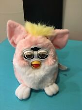 Furby Baby Pink Yellow Tugf Hair Brown Eyes