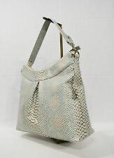 Brahmin Bristol Hobo Opal Seville Snake Emb Leather Satchel Shoulder Bag