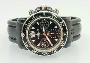 MONTBLANC Flyback Sports Meistersteck Big date Wristwatch Black 7044
