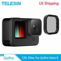 TELESIN CPL Lens Filter Aluminium Alloy Frame for GoPro Hero 9 Black Camera US