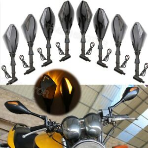 Motorcycle Mirrors LED Turn Signal for Kawasaki Vulcan 1700 1600 1500 2000 900