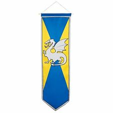 Game Yellow Blue Dragon Medieval Standard Knight Camelot Party Banner Decoration