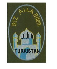 GERMAN ARMY BIZ ALLA BILEN TURKISTAN SHIELD -WW2 REPRO
