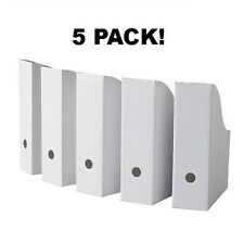 5 NEW IKEA FLYT Economical White Magazine Storage Files