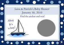 24 Baby Shower Scratch Off Game Cards   AHOY IT'S A BOY