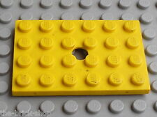 Plaque trouée LEGO vintage Plate with hole 4x6 ref 709 / Set 310 376 333 371 381