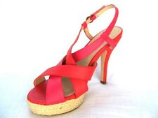 50s Vintage style Red Strappy platform Sandals Slingback Shoes 4 5 6 Sun holiday