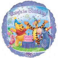 POOH & FRIENDS 1ST BIRTHDAY 45cm FOIL BALLOON