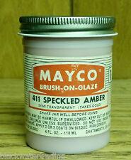 Mayco Brush-On Ceramic Glaze Vintage 4 Oz. 411 Speckled Amber