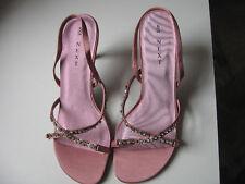 Strappy Sandals High Heeled Next Pink Diamante Flower Wedding Guest Sandals New