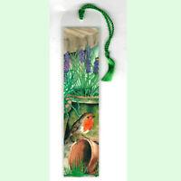 Robin Bird Gift Bookmark Potting Shed Lavender Wild Garden Birds Lover Him Her