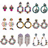 Fashion Jewelry Women Crystal Rhinestone Boho Dangle Tassel Ear Stud Earrings