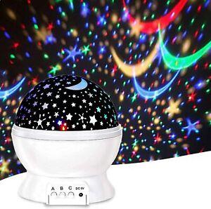 Luces De Noche De Estrella Para Nino Lampara Dormitorio Luz Proyector 8 Modos