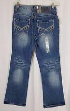 TK Axel Cromwell Wolcott Distressed Vintage Boot Cut Mens Denim Blue Jeans 30x30