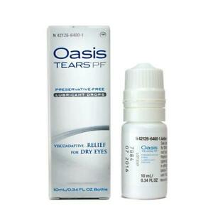 Oasis TEARS PF Preservative-Free Lubricant Eye Drops, 0.34 OZ Expiration 11/2022