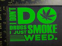 "420 Pot Decal Vinyl Sticker Marijuana Cannabis Weed 3.5/"" Holographic Green"