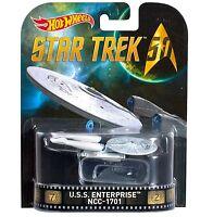 2016 HOT WHEELS RETRO ENTERTAINMENT STAR TREK 50TH U.S.S. ENTERPRISE NCC-1701