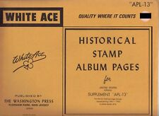 """White Ace 1981-1983 Supplement """"Apl-13"""" for United States Air Mail Plate Blocks"""