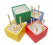 Paint Brush Holder Stand Holds 64 Brushes Artist School Craft Art Storage 7028