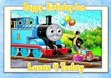 Personalised birthday card Thomas the Tank large A5 son grandson daughter p