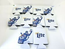Lot of 10 New Miller Lite Football Themed Can Coozies/Koozies