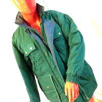 Sasson Jacket Coat Womens Size L Large Green Vintage Parka Ski Skating Snow Warm