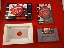 NBA Jam (Super Nintendo SNES, 1994) COMPLETE w Box manual game poster WORKS! #G1